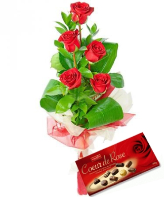 Hoa hồng và socola